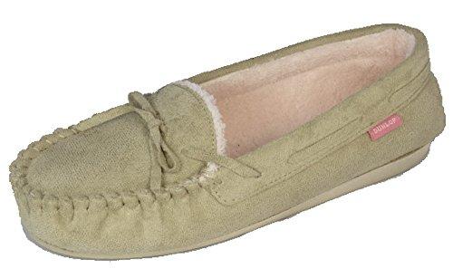 Dunlop, Jade - Zapatilla con diseño de mocasín, forro polar Piedra De Color Beige