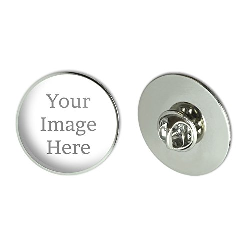 Graphics and More Self-EEZ(TM) Custom Personalized Large Round Lapel Hat Pin Tie Tack