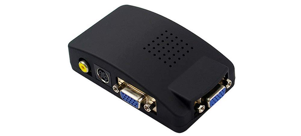 Premium Composite RCA + S-Video to VGA Scaler with 1920x1200 Output + PIP Support by AllAboutAdapters
