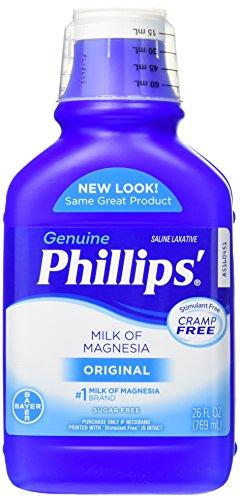 Amazon.com: Phillips Milk of Magnesia Original 26 oz (Pack of 5): Health & Personal Care