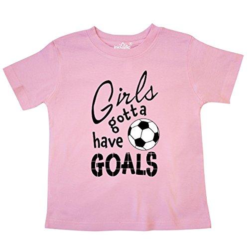 inktastic - Girls Gotta Have Goals- Soccer Toddler T-Shirt 4T Pink 2c19e ()