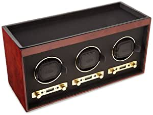 WOLF 453710 Meridian Triple Watch Winder, Burlwood