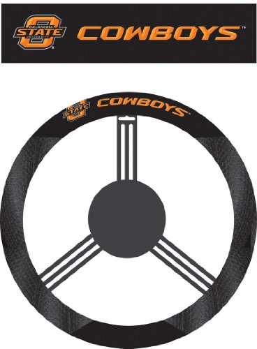 Fremont Die NCAA Oklahoma State Cowboys Poly-Suede Steering Wheel Cover (Basketball Oklahoma State Cowboys)