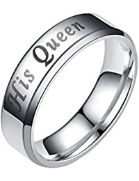 Couple Rings His Queen Her King Lover Valentine's Day Present Best Gift True Love Ring by Fenta