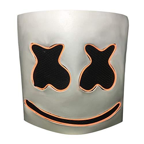 Lucky Lian LED DJ Marshmellos Helmet DJ Mask Light up Neon Party Halloween Costume -