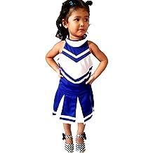 Children/Girls' Cheerleader Cheerleading Uniform Costume Blue/White