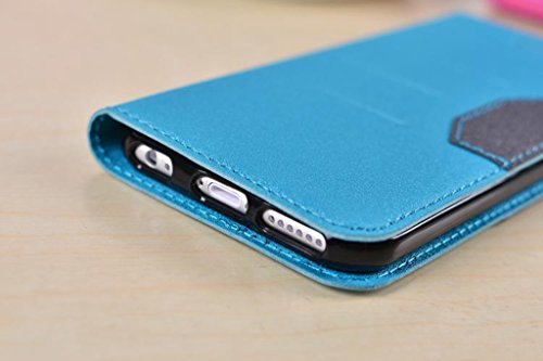 JIALUN-carcasa de telefono para el iPhone 6 más y 6s más, colores mezclados Brillando Sparkles patrón de cierre magnético PU cubierta de la caja de cuero con Kickstand y ranura para tarjetas ( Color : Rose