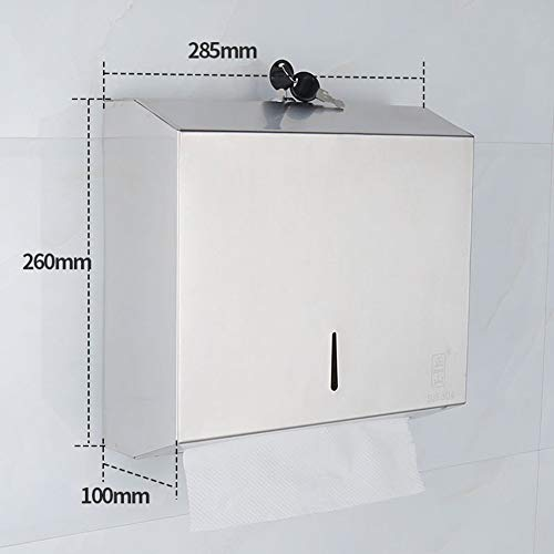Bathroom Toilet Roll Holder Storer Fixed to The Wall in Stainless Steel Tissue Box of Punch, 144 95 142Mm (Color: - Square Holders 144