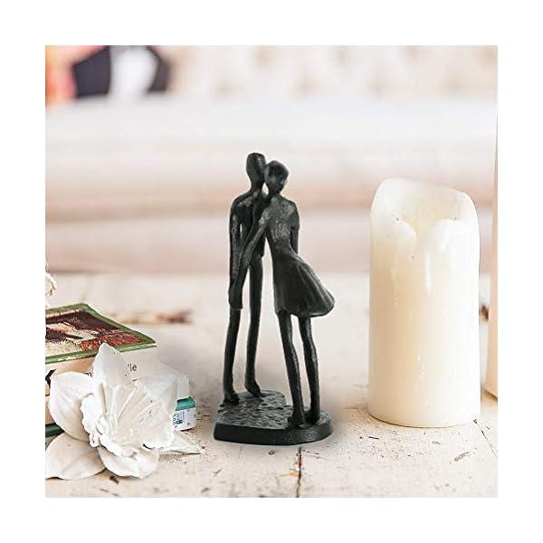 Aoneky Statuette Couple – Sculpture Homme Femme en Fer – Statue Amour – Décoration de Maison, Famille, Noël- Cadeau pour…