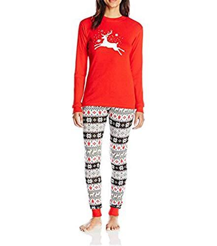 Family Matching Pajamas Set Reindeer Printed Christmas Sleepwear Nightwear Adult Kids Costume Clothing (girls-2T)