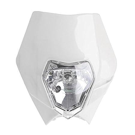 Daxerg Universal Motocicleta Bike Head Light Dirt Protect Cubierta Motocross Supermoto Headlight para KTM SX EXC XCF Headlamp