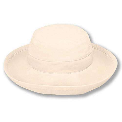 Sungrubbies Hats - Casual Traveler (XL, Natural) Wide Brim Packable Lightweight Travel Hat UPF 50 Sun - Woman Head Big