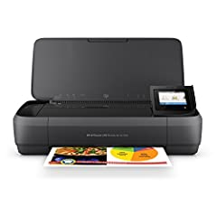 Print, scan, and copy from nearly anywhere with this portable all-in-one. Android users can easily detect and connect to a nearby OfficeJet 250 and print using Wi-Fi Direct. This quiet workhorse has a long battery life and delivers the most p...