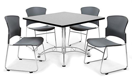 OFM PKG-BRK-09-0005 Breakroom Package, Gray Nebula Table/Gray Chair