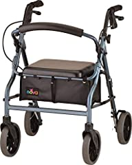 """Get the perfect fit and features with The Zoom Rolling Walker. NOVA's signature rolling walker is designed for optimum stability and the best of the best in features and style. Features include 8"""" wheels, an under seat pouch, a padded seat, o..."""