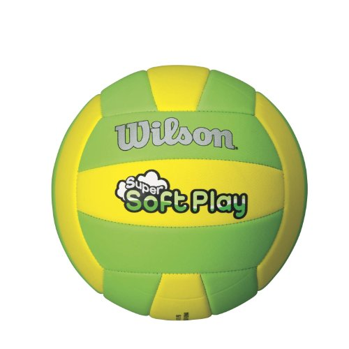 Wilson Super Soft Play Outdoor Volleyball (Yellow/Green) (Wilson Green)