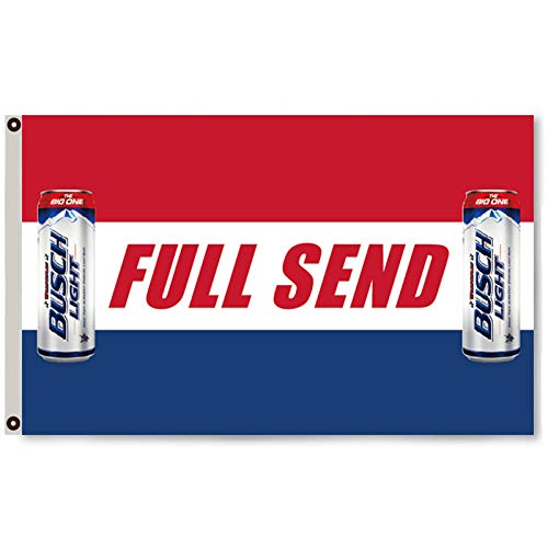 Mountfly Busch Light Beer Flag Banner 3X5 Feet Man Cave