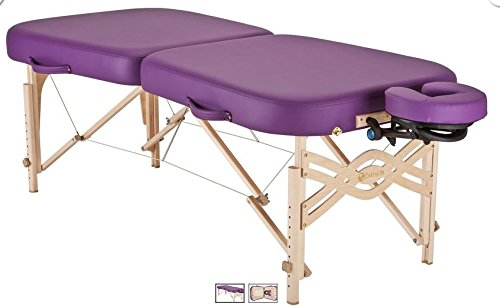 (EARTHLITE Portable Massage Table Infinity - Greater Client Access, Unique Shape, 3