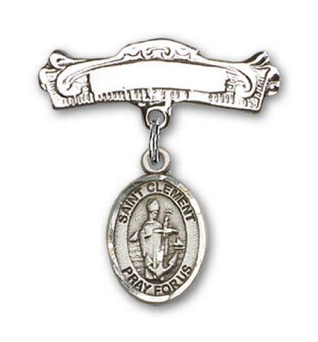 Icecarats Créatrice De Bijoux En Argent Sterling St. Charme Clement Broches Badge Arc 7/8 X 7/8
