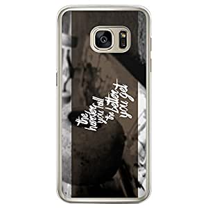 Loud Universe Samsung Galaxy S7 Edge The Harder You Fall The Better You Get Printed Transparent Edge Case - Multi Color