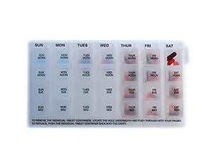 NRS Healthcare M15381 - Pastillero semanal básico, en inglés