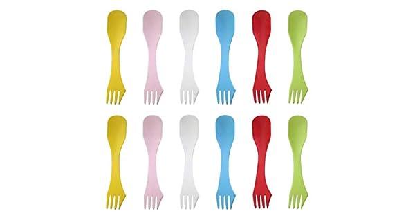 Amazon.com: 12 cuchillos de camping 3 en 1 con cuchara y ...