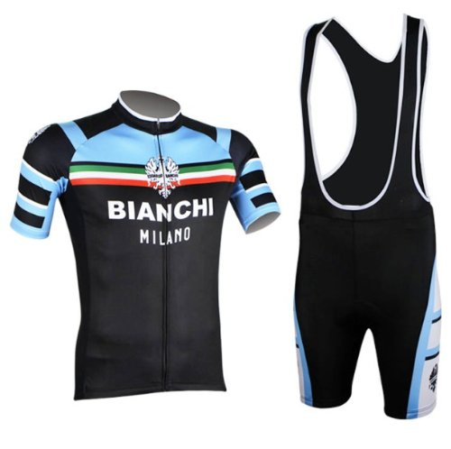 Sport360 Speed Fitness Men's Short Sleeve Strap Suit Perspiration Breathable Mountain Bike Cozy Suit Bib Cycling Jersey Set Riding Clothes