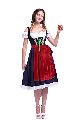 Womens Halloween Performance Cosplay Oktoberfest Apron Plus Size Maid Fancy Dress Costume (XX-Large, (Gretchen Halloween Costume Plus Size)