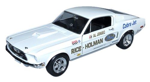 1/18 1968 Al Jonice's Ford Mustang Super Stock Eliminator (ホワイト) AW203