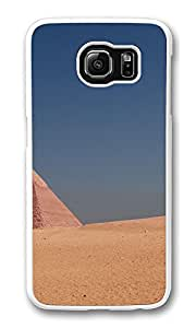 VUTTOO Rugged Samsung Galaxy S6 Case, Egipt Pyramid Blue Sky PC Plastic Hard Case Cover for Samsung Galaxy S6 PC White