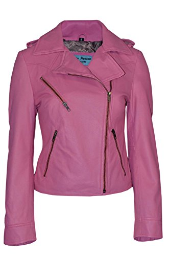 KATE 2 Paires-Modèle Rose Fashion Biker cuir veste Zip de fermeture Soft Rock