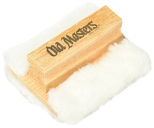 OLD MASTERS 30500 Stain Applicator, 4-3/4 in L X 4-1/2 in W, 1/2 in T, 100% Pure Lamsbwool, 3.5