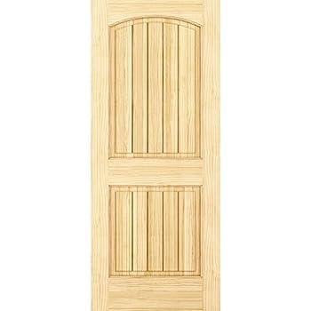 2-Panel Door Interior Door Slab Solid Pine Arch Top V-Grooves (24x80)  sc 1 st  Amazon.com & Amazon.com: 6-panel door Interior Slab Solid Pine (30x80): Home ...