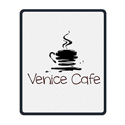 Venice Cafe Portable Gaming Mouse Pad Comfortable Non-Slip Base Durable Stitched Edges 7.08 X 8.66 Inch, 3mm -
