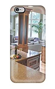 Brahodes ROGSTQJ13641soTlo Case For Iphone 6 Plus With Nice Open Color-blocked Kitchen And Living Room With Variant Countertops Appearance