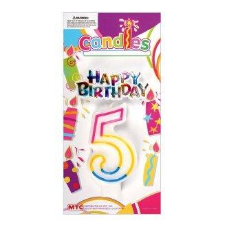 Quinto cumpleaños Vela con forma de arco iris feliz ...