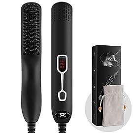 - 41RYUe16HbL - Cayzor Beard Straightener Comb for Men, Upgraded Professional Electric Mens Beard Straightening Heated Brush