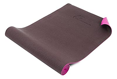 ProSource Premium High Density Exercise Yoga Mat with Comfort PVC Foam and Carrying Straps