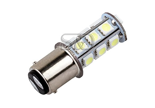 Price comparison product image S&D 2 X 1157 BA15D Auto Car LED Bulbs Turn Signal light Brake Lamp Parking Bulbs - 18 SMD 5050 White 6000K