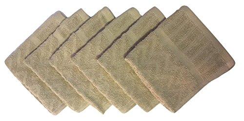 Metro 100% Cotton Chevron Washcloths - 6-Pack (Linen)