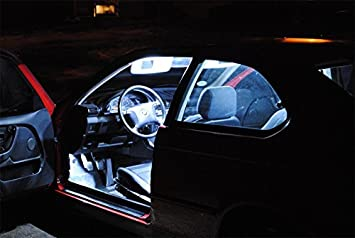 Led l illuminazione per interni auto set di lampade bianco
