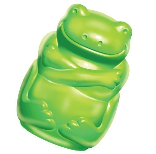 KONG Squeezz Jels Frog Squeaky Dog Toy, Medium ()