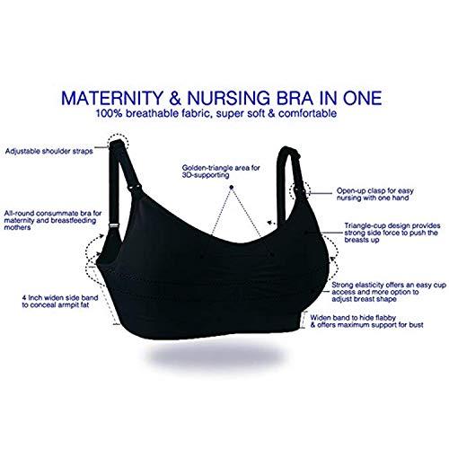 Allattamento Reggiseno Push Whifan Sllattamento Senza Cuciture Bra Maternit 3pack Nursing Up wHT8xTqX