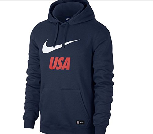 2018 Nike USA Men's Pullover Hoodie (Midnight Navy) (Nike Navy Blue Sweatshirt)