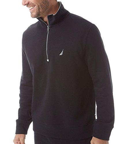 Nautica Men's 1/4 Zip Pullover True Black (Nautica 1/4 Zip Sweater)