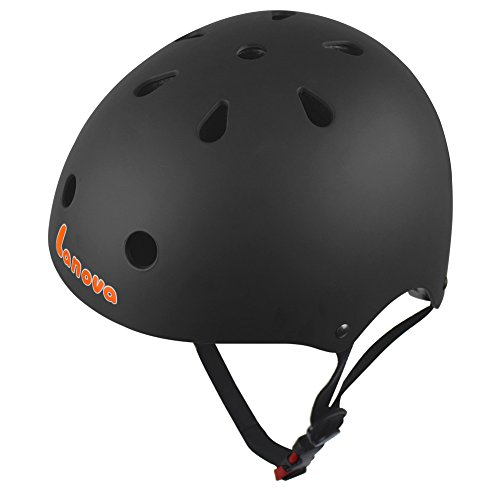 Bmx Bicycle Helmets (Lanova Adjustable Kids Cycling Multi-Sport Safety Bike Skating Scooter Helmet for 3 to 8 Years Old Girls/Boys)