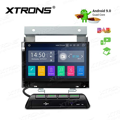 XTRONS Android 9.0 Car Stereo Radio GPS Navigator 7 Inch Touch Display Head Unit Supports Car Auto Play Bluetooth 5.0 WiFi Backup Camera DVR OBD TPMS Full RCA Output for Land Rover Freelander 2 ()