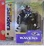 "Deion Sanders Baltimore Ravens ""Alternate Black Jersey"" McFarlane NFL Collector's Club Exclusive Action Figure"