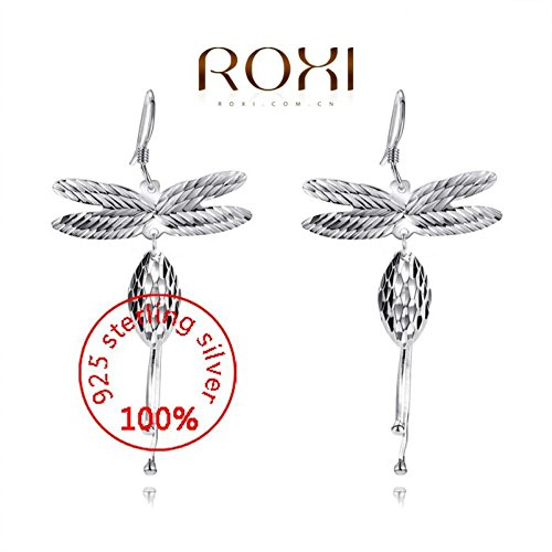 Prime Leader Sterling Silver Fashion Jewelry 925 Silver Aaa Cz Modelling Dragonfly Beauty Drop Earrinparty Christmas Gifts3020051400