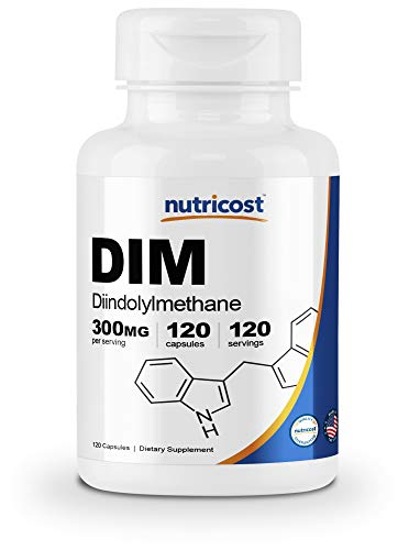 Nutricost DIM (Diindolylmethane) Plus BioPerine 300mg, 120 Veggie Capsules - Up to 4 Month Supply, Max Strength DIM Supplement